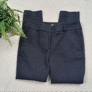 LOFT Petite Marisa Skinny Pants Navy Polka Dots